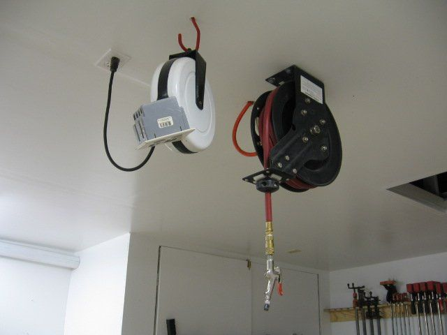 Air Hose Reel Overhead In And Painted I Remounted