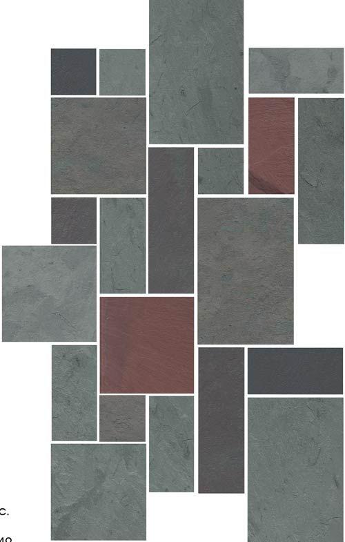 Random Ashlar Slate Tile Pattern Upstairs Downstairs In