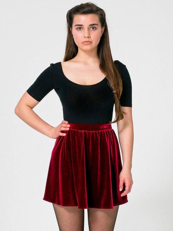 Stretch Velvet Skirt | Shops, American apparel and Skater ...