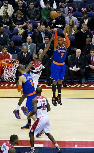 New York Knicks Carmelo Anthony in March 2013.
