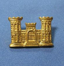 Wwii Us Army Corps Engineer Insignia Castle Sweetheart