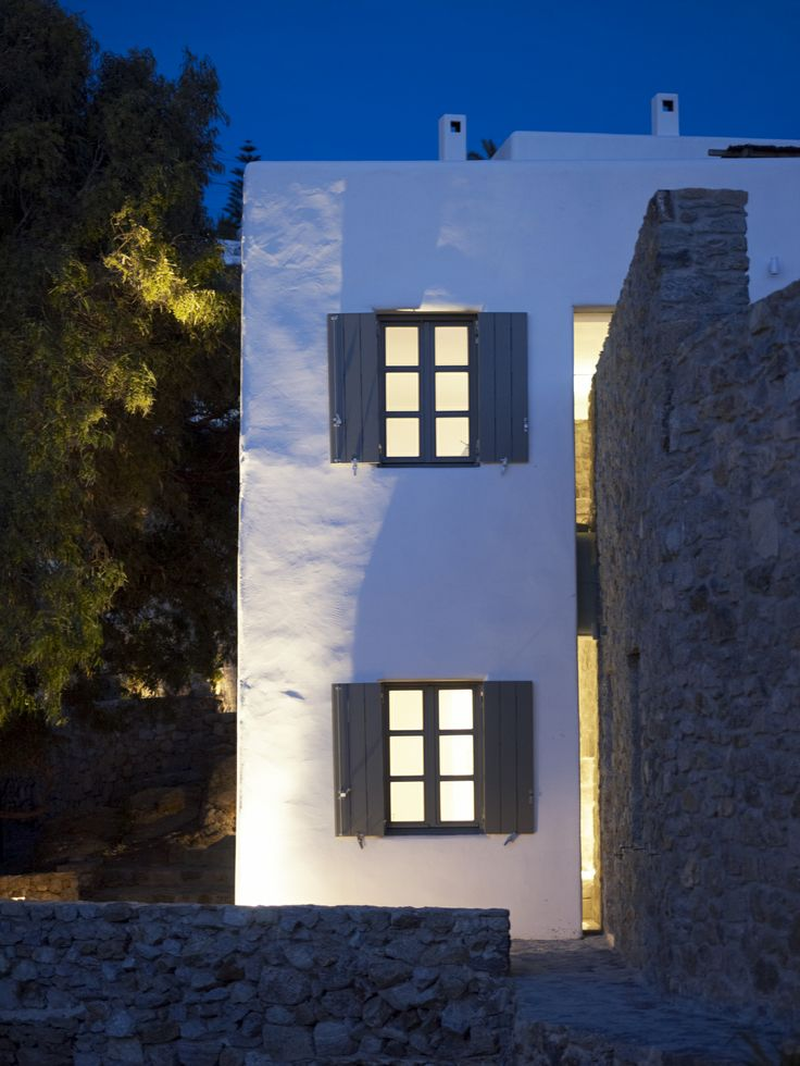 Residential Complex by Zoumboulakis Architects in Myconos, Greece. Photo by Vangelis Paterakis. Greek, Aegean, Cycladic island architecture.