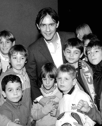 Inzaghi@San Nicolo' with Simone's son Tommaso