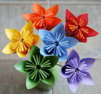 origami flowers: etsy has it all