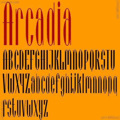 Arcadia® Font Family - Font Illustration