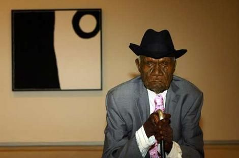 """Paddy Bedford, aka """"Goowoomji"""", was a contemporary Indigenous Australian artist from Warmun in the Kimberley, and one of eight Australian artists selected for an architectural commission for the Musée du quai Branly"""