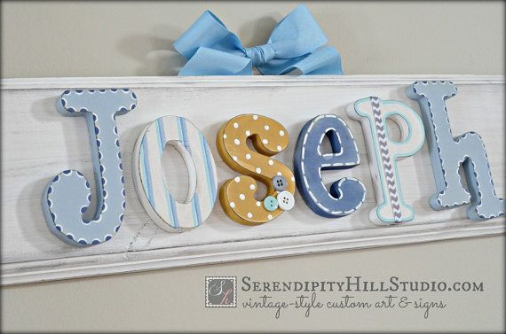 personalized name plaque - custom, made to order wall letter sign, wall letters, heirloom quality children's nursery art and decor