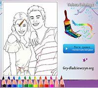 Kolorowanka Violetty i Leona