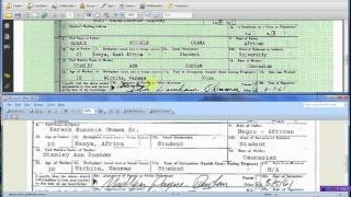 Obama Long Form Birth Certificate Kenya Forensics, via YouTube.