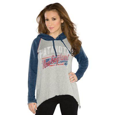 Touch by Alyssa Milano New England Patriots Ladies Rebel Hoodie - Ash