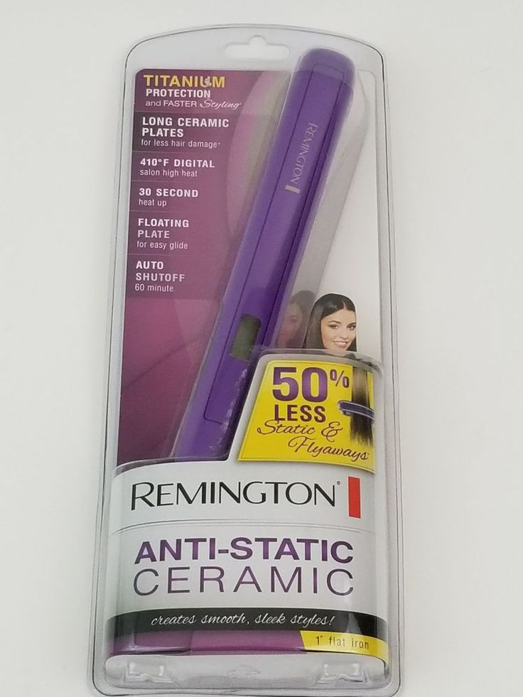 Remington Digital 1 Inch Ceramic Titanium Hair Straightener Flat Iron S-5500  #Remington