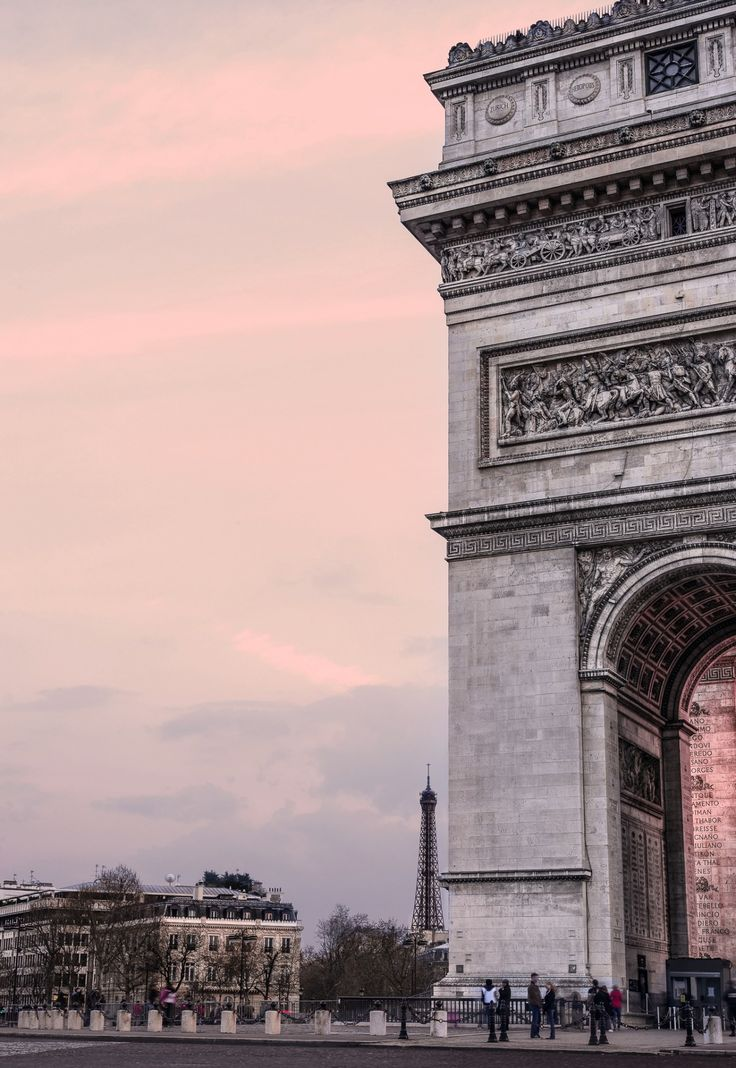 Pink light in Paris.