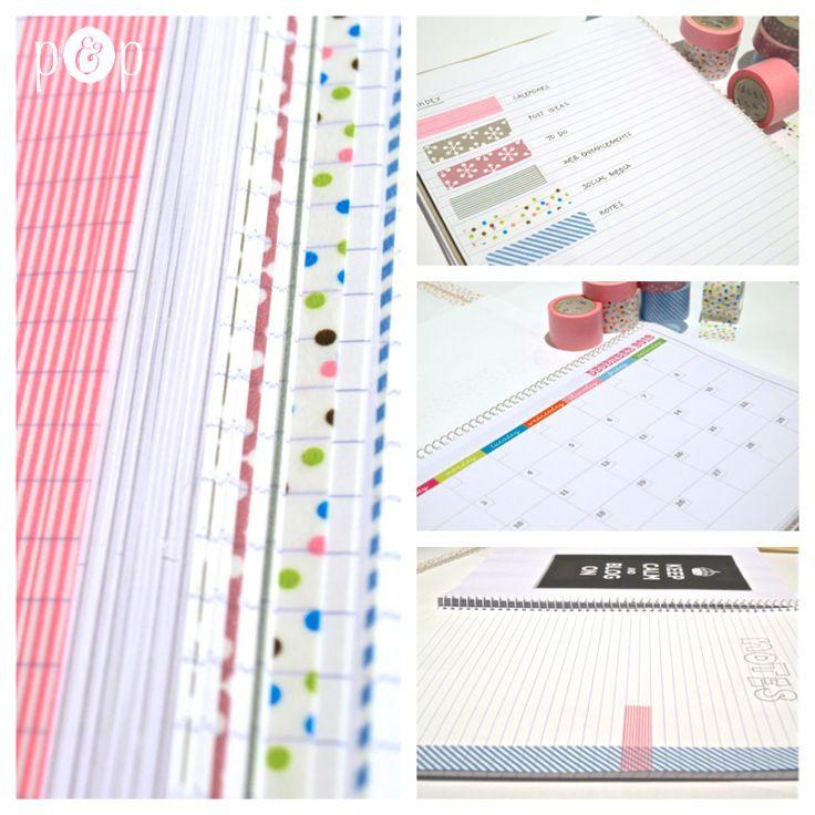 Diy Notebook Calendar : Best images about washi tape on pinterest outlet