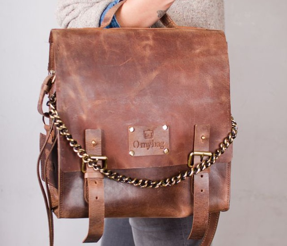 Leather/Chain Satchel
