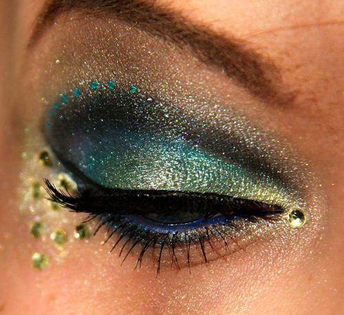 Peacock looking eyes