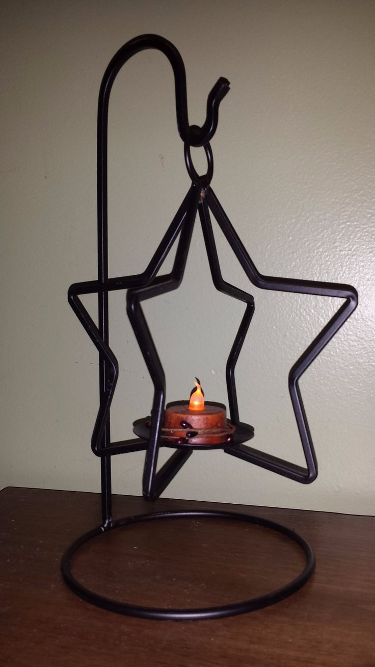 Tall wrought iron candle holders - Star Hanger Set Kelly S Unique Primitives Country Primitive Home Decor Eden Md