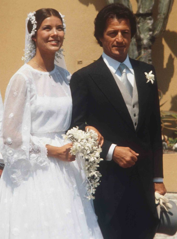15 Most Gorgeous Royal Wedding Gowns of All Time - Princess Caroline and Philippe Junot of Monaco from InStyle.com
