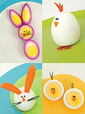Hard Boiled Bunnies and Chicks make the perfect Easter lunches for kids.