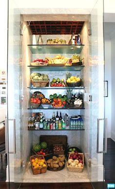Luxury Clear Glass Refrigerator Lisa Vanderpump Had
