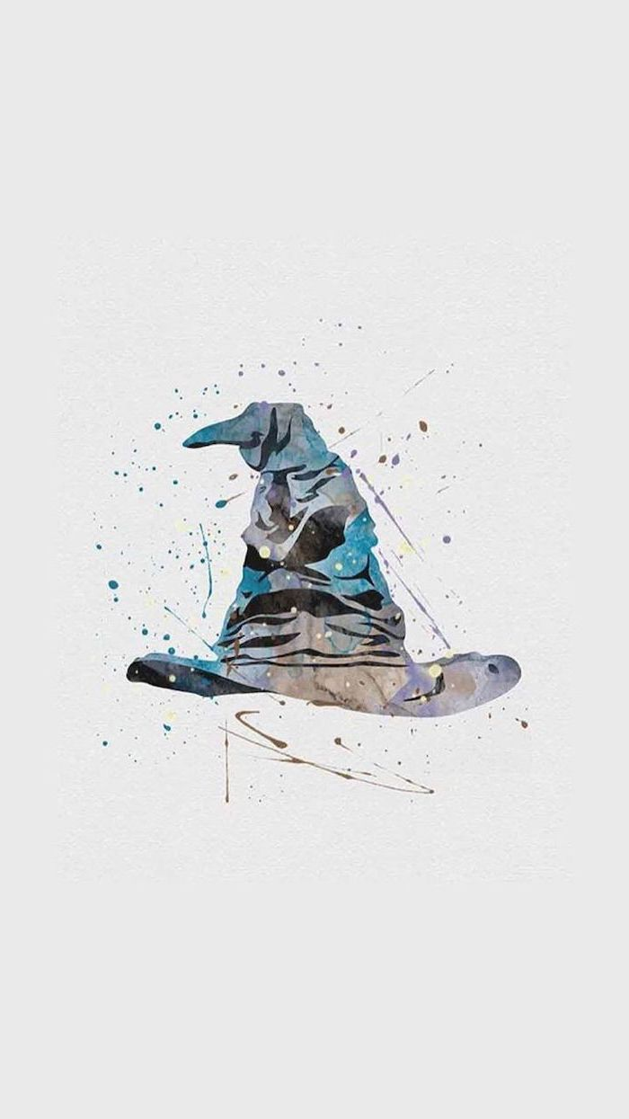 Watercolor Painting Of The Sorting Hat Cute Harry Potter Wallpaper White Background Harry Potter Wallpaper Harry Potter Background Harry Potter Wallpaper Phone