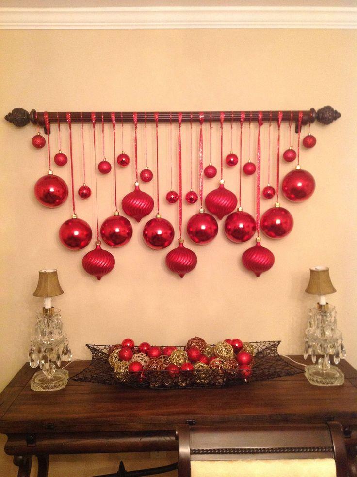 Wanddeko in klassischer Weihnachtsfarbe Modern Design in