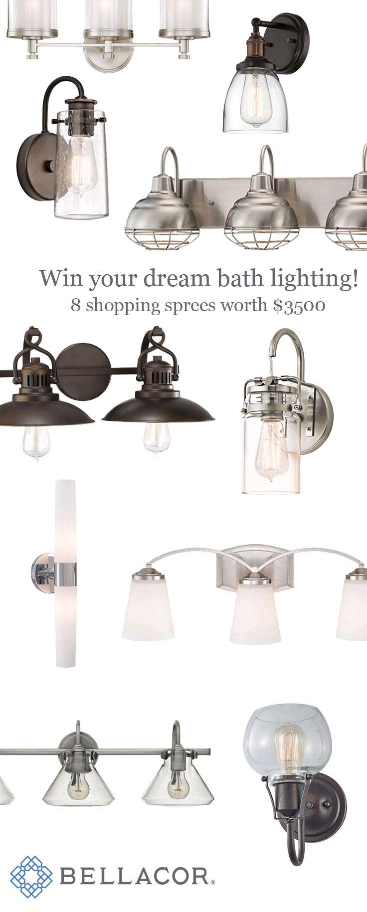 $500 Bath Lighting Shopping Sprees! Pick out your dream bathroom lighting at Bellacor.com