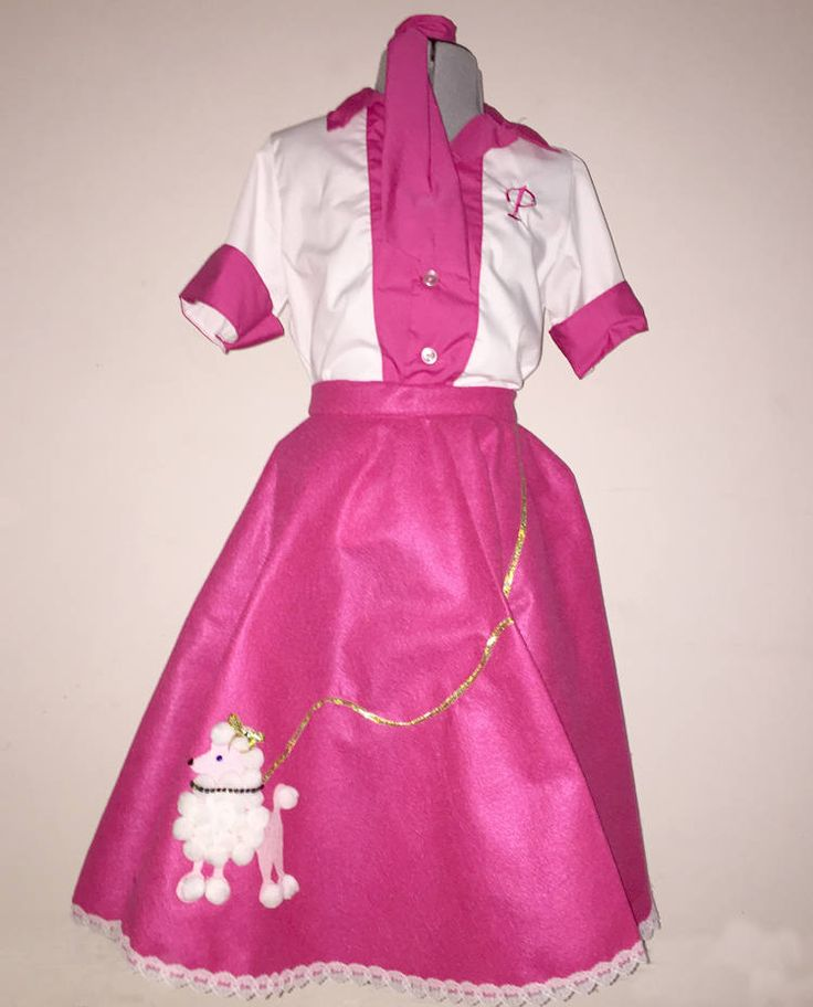 Poodle Skirt 50's girl Costume by kikisthings on Etsy