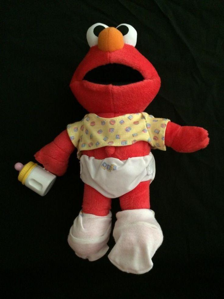 Fisher Price Mattel 2000 Sesame Street Muppets Elmo Henson Crying Talking Plush #FisherPrice ...