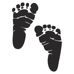Free Printable Stencils Designs - baby feet