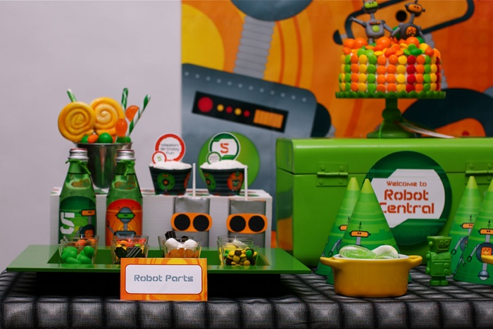 robots rule theme party: Dessert Tables, Party'S, Parties, Party Robots, Party Ideas, Birthday Party, Kid, Birthday Ideas