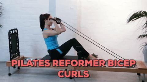 Pilates Reformer Bicep Curls Exercise