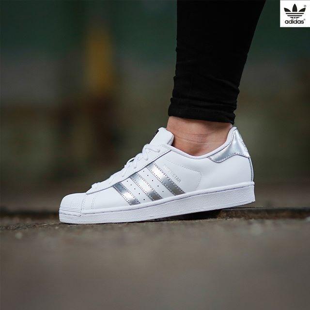 White Superstar en 2019Zapatos Adidas adidas mujer Silver L3j5AR4