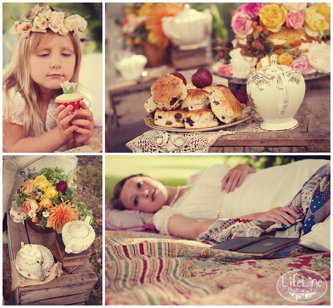Jane Austen inspired vintage picnic shoot lifestyle photography
