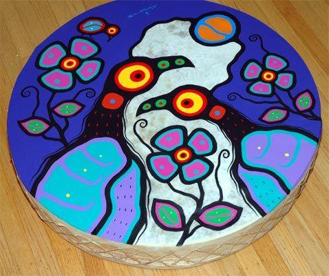 Anisnabec Drum #1  by Blair Debassige