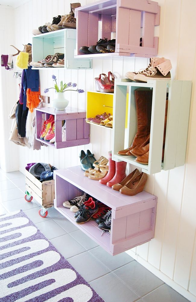 13 creative ways to organize your shoes inspired by pinterest - Ideas for organizing shoes ...