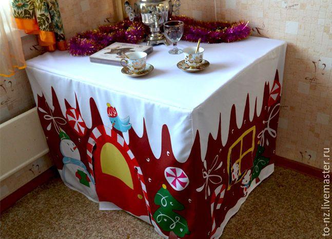 Шьем скатерть «Пряничный домик», или Как превратить обычный кухонный стол в сказку - Ярмарка Мастеров - ручная работа, handmade