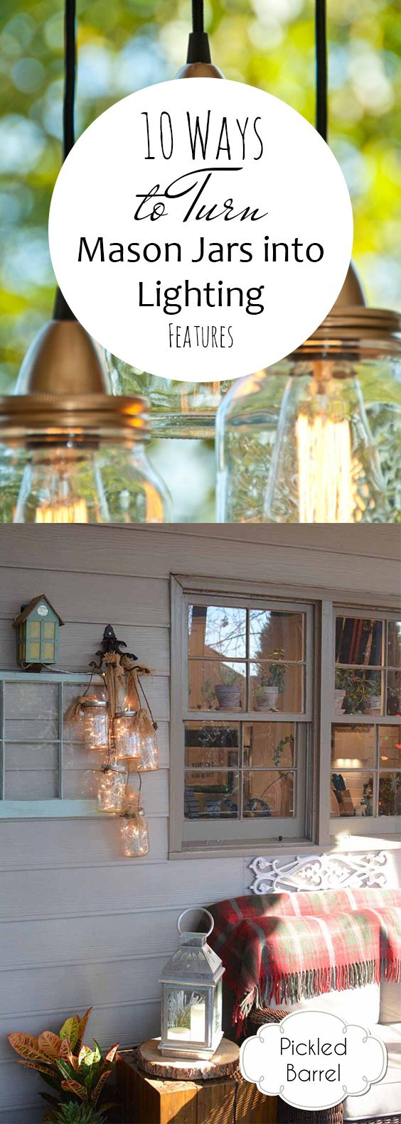 10 Ways to Turn Mason Jars into Lighting Features -