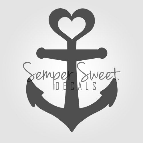 anchor heart decal navy coast guard military love new tattoo pinterest navy coast guard. Black Bedroom Furniture Sets. Home Design Ideas