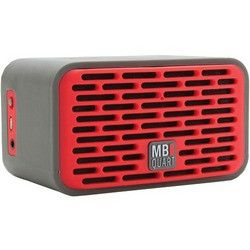 Mb Quart Dual-driver Bluetooth Speaker (gray Rubber Cover & Red Grille) (pack of 1 Ea)