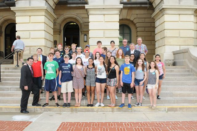 Students from Saint Monica Academy Welcomed to Springfield - http://www.michaelmcauliffe.org/2015/06/students-from-saint-monica-academy.html