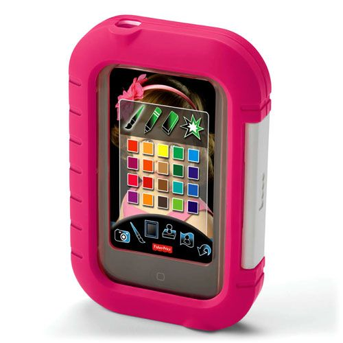 Fisher Price Apptivity Case - Features:  Clear screen cover protects against drips & sticky fingers  Block home button or keep it accessible  Sturdy outer shell  Hole for camera use    Durable case is compatible with:  iPhone®  iPhone 3G / 3GS  iPhone 4 / 4S  iPod touch® 2nd, 3rd & 4th generation