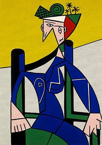Roy Lichtenstein - Woman inawheelchair, 1963