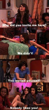 #Victorious Trina,Tori,Robbie,Andre,Jade & Becky..I sort of remember this episode where they got locked in the trailer! xDDD