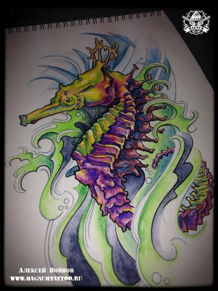 эскизы тату морской конек - Поиск в Google