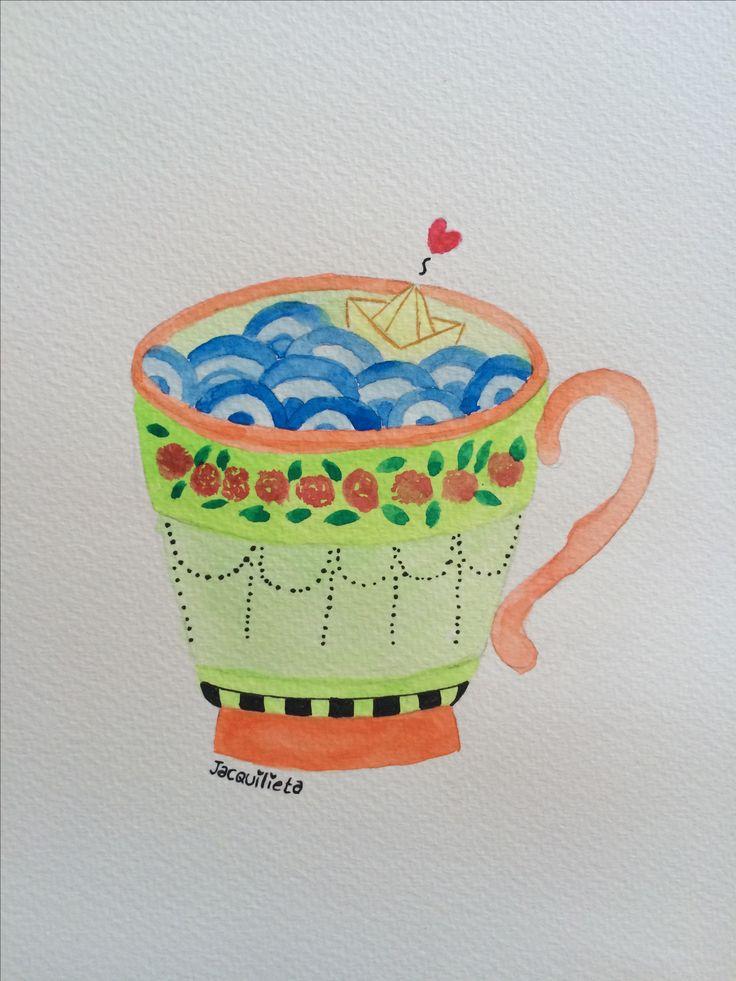 Una tormenta en una taza de té.