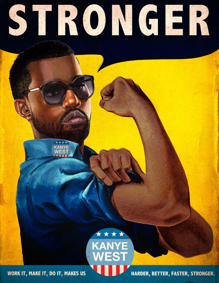 """Stronger"" / Kanye West © Ads Libitum :facebook/tumblr/behance"