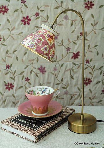 Tea cup lamp, love!