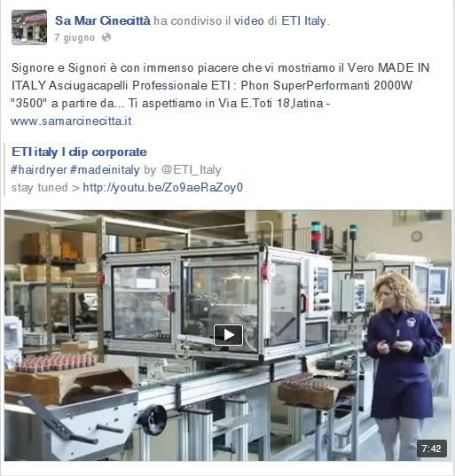 #ETI_italy #hairdryers  the real #madeinitaly    stay tuned > http://youtu.be/Zo9aeRaZoy0    ---------------  thanks to http://www.facebook.com/sa.marcinecitta