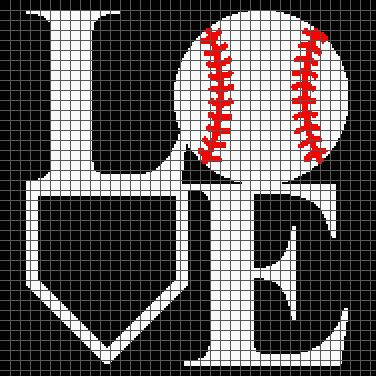 Baseball Love (Graph AND Row-by-Row Written Crochet Instructions) – 02