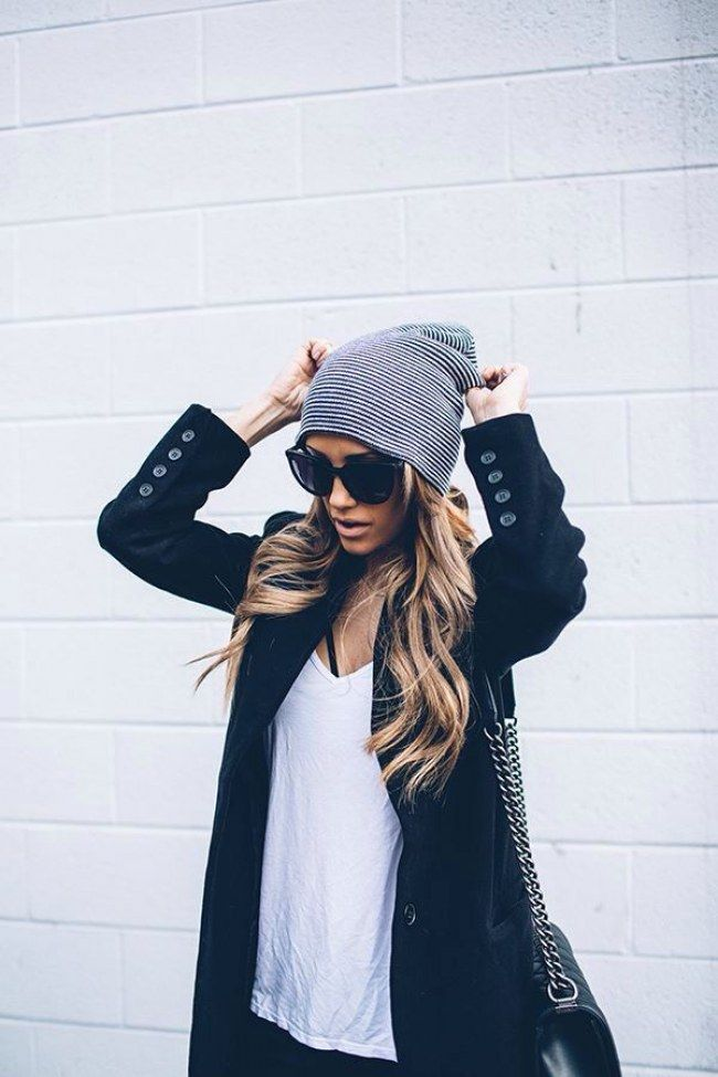 Autumn time is hat time! The coolest hairstyles for cold days